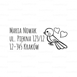 Pieczątka adresowa - LITTLE BIRD