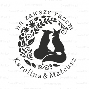 Stempel ślubny FOXES IN LOVE