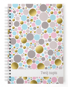 Personalizowany  notes ABSTRACT DOTS
