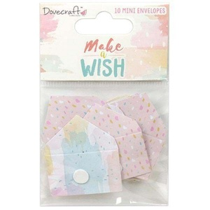 Mini koperty - Make a Wish - 10 szt
