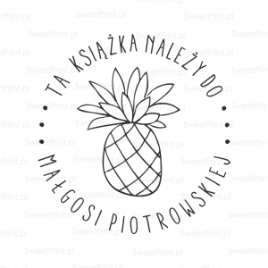 Personalizowany stempel - EXLIBRIS - PINEAPPLE