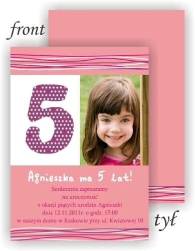 Zaproszenia Na Urodziny Dziecka Ze Zdjęciem Foto Zaproszenia