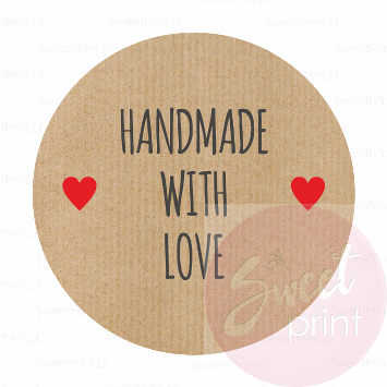 naklejki eko HANDMADE WITH LOVE - SweetPrint.pl